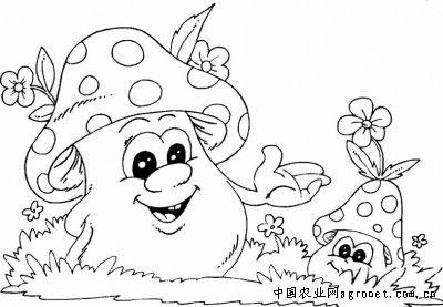 蘑菇简笔画大全可爱