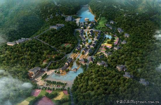 古村休闲绿地景观设计平面图