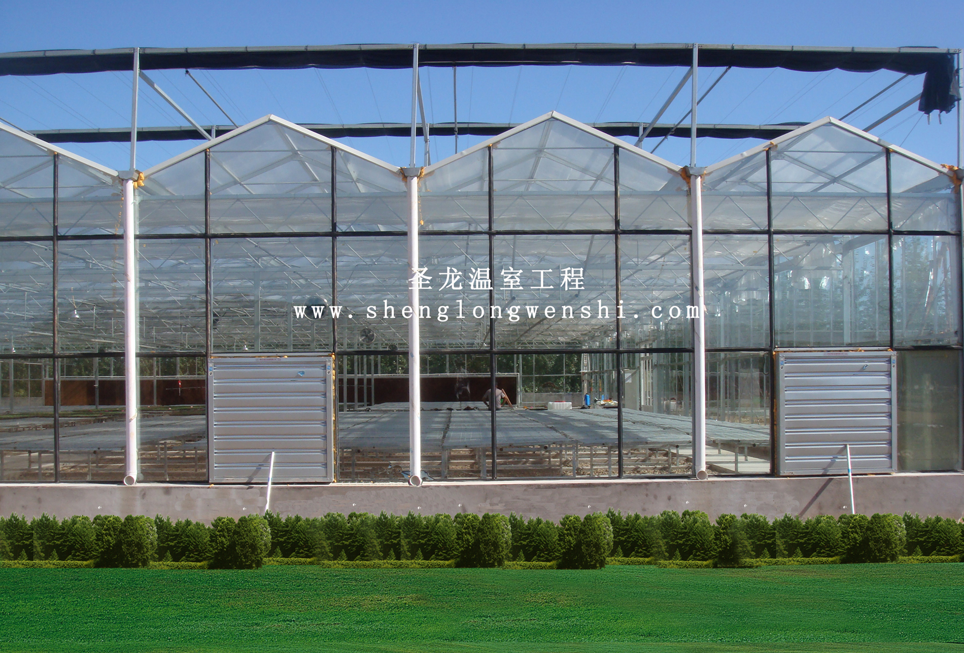 供应玻璃连栋温室大棚,双层中空玻璃温室 ,个人,中国
