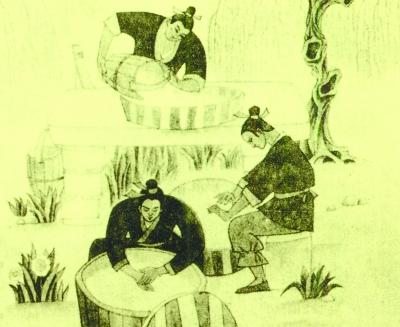 古代诗人王建简笔画