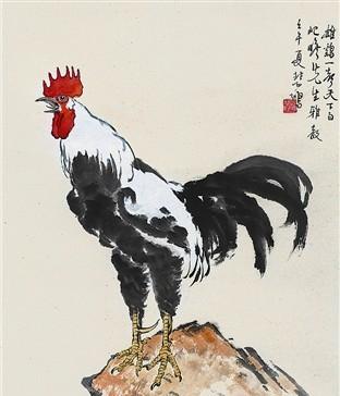 动物 国画 鸡 312_364