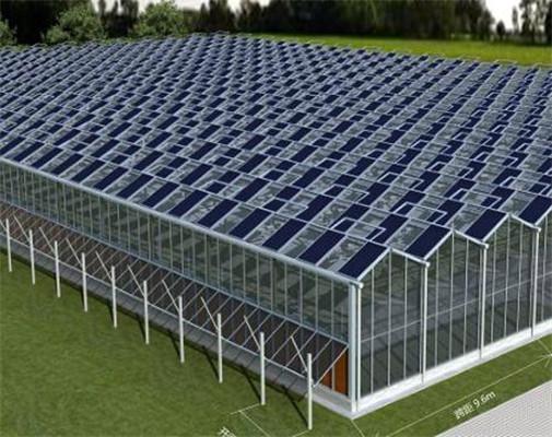 光伏太阳能温室是一种新型节能温室,是在温室的部分或全部向阳面上铺设光伏太阳能发电装置的温室,它既具有发电能力,又能为一些作物或食用菌提供适宜的生长环境,按结构分类,一般有两种;类型:一类是光伏太阳能日光温室;另一类是光伏太阳能智能连栋温室。 该温室的主要特点: 热镀锌钢架结构,保温效果好,使用寿命长。 温室表面加装太阳能电池板,使温室具有了发电功能,能够更充分地利用太阳能。 同一片土地上实现了发电与种植同时进行,节约了土地资源,解决了光伏发电与种植争地的矛盾。 能够防风和减少蒸发,可将一些不毛之地变