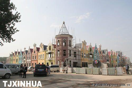 欧式建筑风格的曹庄花卉市场竣工在即(图)