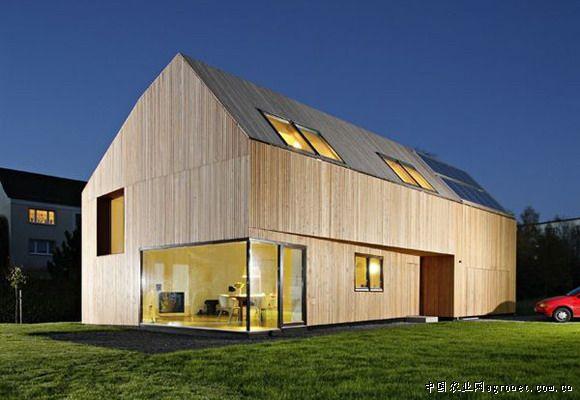 别墅屋顶木材结构图
