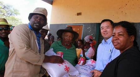 中国援助纳米比亚粮食开始分发